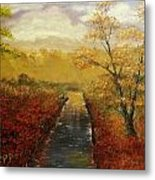 Autumn's Approach Metal Print