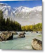 Autumns Colors Contrast With Winters Metal Print by Ray Bulson