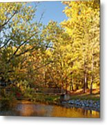 Autumn's Golden Pond Metal Print by Kim Hojnacki