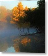 Autumn's Mist Metal Print