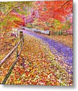 Autumns Way Rouge Metal Print by John Kelly