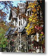 Autumn's Windows Metal Print
