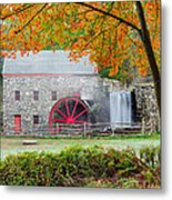 Auutmn At The Grist Mill Metal Print by Michael Blanchette