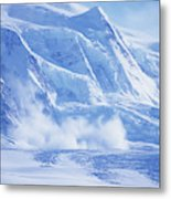 Avalanche At A Distance Metal Print