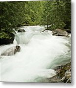 Avalanche Creek In Spring Run Off Metal Print