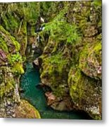 Avalanche Gorge In September Metal Print