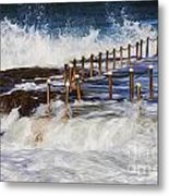 Avalon Rockpool In A Storm Metal Print