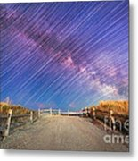 Avalon Star Trails  Metal Print