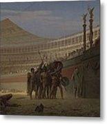 Ave Caesar Morituri Te Salutant , 1859 Metal Print