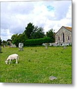 Avebury Stones And Sheep Metal Print