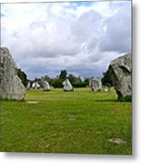 Avebury's Southern Entrance Stones Metal Print