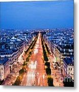 Avenue Des Champs Elysees In Paris Metal Print