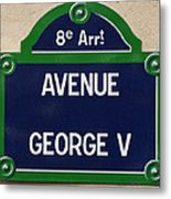 Avenue George Le Cinq  Metal Print