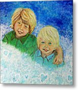 Avery And Atley Angels Of Brotherly Love Metal Print