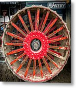 Avery Tractor Tire Metal Print