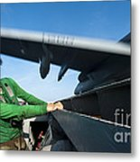 Aviation Boatswains Mate Ducks As An Metal Print