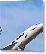 Aviation Icons - Air France Concorde Metal Print