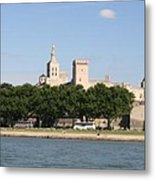 Avigon View From River Rhone Metal Print