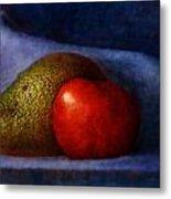 Avocado And Tomato Metal Print