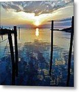 Avon Harbor Sunset Reflections 7/26 Metal Print