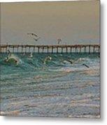 Avon Pier And Birds 7/30 Metal Print