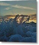 Avon Pier Sunrise Wave Splash 9/08 Metal Print