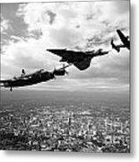 Avro Birds - Mono  Metal Print