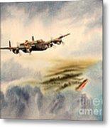 Avro Lancaster Over England Metal Print