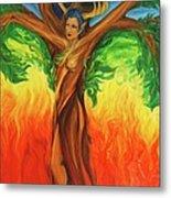 Awakening The Chakra Tree Metal Print
