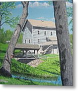 Award-winning Painting Of Beckman's Mill Metal Print by Norm Starks