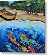 Away With The Fishes Metal Print