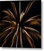 Awesome Orange Fireworks Galveston Metal Print by Jason Brow