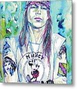 Axl Rose Portrait.1 Metal Print
