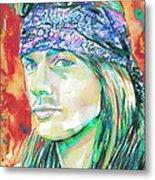 Axl Rose Portrait.2 Metal Print
