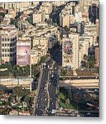 Ayalon Freeway And The Halacha Bridge Metal Print