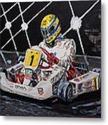 Ayrton Senna Karting Metal Print