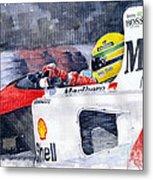 Ayrton Senna Mclaren 1991 Hungarian Gp Metal Print