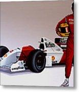 Ayrton Senna Metal Print