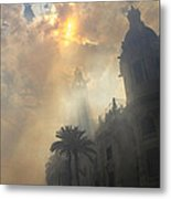 Ayuntamiento Valencia After Mascleta Metal Print