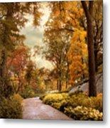 Azalea Garden In Autumn Metal Print