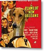 Azawakh Art - The Flame Of New Orleans Movie Poster Metal Print