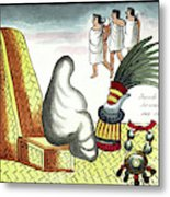 Aztec Burial Ritual Metal Print