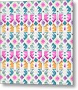 Aztec Inspired Arrow And Geometric Pattern One.jpg Metal Print