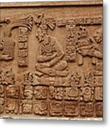Aztec Woodcarving Tablets Metal Print