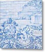 Azulejos Traditional Tiles In Porto Portugal Metal Print