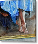 Through The Looking Glass- A Vision In Azure, Prelude To A Dance Metal Print