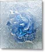 Azure Touch  Metal Print