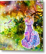Azuria In Her Banquet Gown Metal Print