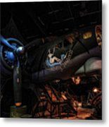 B-17 Exhibit In Hdr Metal Print