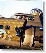 B-17 Nine O Nine Metal Print